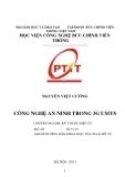 TÓM TẮT LUẬN VĂN: CÔNG NGHỆ AN NINH TRONG 3G UMTS