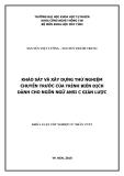 LUẬN VĂN: KHẢO SÁT VÀ XÂY DỰNG THỬ NGHIỆM CHUYẾN TRƯỚC CỦA TRÌNH BIÊN DỊCH DÀNH CHO NGÔN NGỮ ANSI C GIẢN LƯỢC