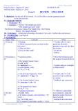 Teaching English plan  -   Class 9