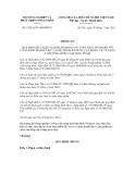 Thông tư số 33/2012/TT-BNNPTNT
