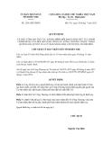 Quyết định số 1291/QĐ-UBND