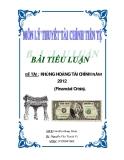 Báo cáo tốt nghiệp: KHỦNG HOẢNG TÀI CHÍNH NĂM 2012