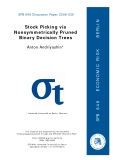 Stock Picking via  Nonsymmetrically Pruned  Binary Decision Trees