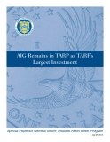 AIG Remains in TARP as TARP's   Largest Investment