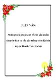 LUẬN VĂN:  Những biện pháp kinh tế chủ yếu nhằm chuyển dịch cơ cấu cây trồng trên địa bàn huyện Thanh Trì - Hà Nội