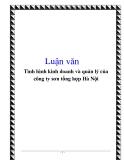Luận văn hay: Tình hình kinh doanh và quản lý của công ty sơn tổng hợp Hà Nội