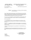 Thông báo số 3814/TB-BNN-VP