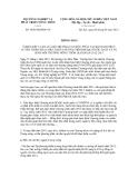 Thông báo số 3830/TB-BNN-VP