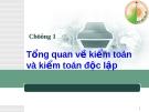 Chương 1: Tổng quan về kiểm toán và kiểm toán độc lập