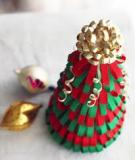 Chỉ dẫn cách làm cây thông Noel siêu đẹp từ dây ruy băng