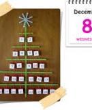 Xinh xắn với lịch treo tường hình cây thông Noel