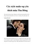 Các style make-up yêu thích mùa Thu Đông