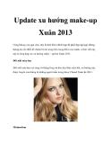 Update xu hướng make-up Xuân 2013
