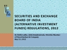 SECURITIES AND EXCHANGE  BOARD OF INDIA (ALTERNATIVE INVESTMENT  FUNDS) REGULATIONS