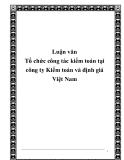 Luận văn Tổ chức công tác kiểm toán tại công ty Kiểm toán và định giá Việt Nam