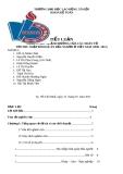 Tiểu Luận:  NGHIÊN CỨU SỰ ẢNH HƯỞNG CỦA CÁC NHÂN TỐ TỚI THU NHẬP BÌNH QUÂN ĐẦU NGƯỜI Ở VIỆT NAM (1990- 2011)