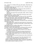 Đề Cương  môn: Khai Thác Hầm Lò
