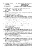 đề thi và đáp án vòng sơ tuyển học sinh giỏi môn hóa tỉnh Vĩnh Long