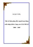 Luận văn về:  Một số biện pháp đẩy mạnh hoạt động xuất nhập khẩu ở lạng sơn GIAI ĐOẠN 2000 – 2005