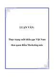 LUẬN VĂN:  Thực trạng xuất khẩu gạo Việt Nam theo quan điểm Marketing-mix