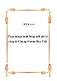 LUẬN VĂN:  Thực trạng hoạt động môi giới ở công ty Chung Khoan Bảo Việt