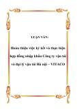 LUẬN VĂN:  Hoàn thiện việc ký kết và thực hiện hợp đồng nhập khẩu Công ty vận tải và đại lý vận tải Hà nội – VITACO