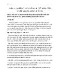Trả Lời Câu Hỏi Mác Lênin  - Những nguyên lý cơ bản chủ nghĩa Mac-Lênin