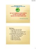 SỰ LÂY NHIỄM KÝ SINH TRÙNG VÀ ĐỘC TỐ THẦN KINH TRONG SẢN PHẨM THỦY SẢN