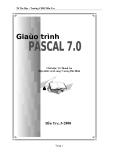 Giáo trình Pascal 7.0 - CĐSP BẾN TRE
