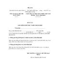 MẪU  BÁO CÁO GIẢI TRÌNH TIẾP THU Ý KIẾN THẨM ĐỊNH Về dự thảo