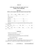 MẪU BIÊN BẢN Kiểm tra việc tự nguyện (hoặc thỏa thuận) thi hành quyết định