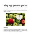 Tổng hợp lợi ích từ quả táo