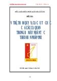 Đề tài: VỊ TRÍ, THẨM QUYỀN, CƠ CẤU TỔ CHỨC CỦA CÁC CƠ QUAN TRONG BỘ MÁY NHÀ NƯỚC THEO HIẾN PHÁP NĂM 1992