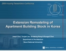 Extension Remodeling of  Apartment Building Stock in Korea Extension Remodeling of  Apartment Building Stock in Korea