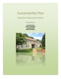 Sustainability Plan Plantation Apartment Homes