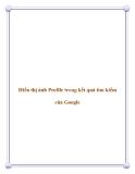 Hiển thị ảnh Profile trong kết quả tìm kiếm của Google.