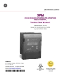 SPM Synchronuos motor protection and Control Instruction Manual