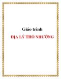 Giáo trình địa lý thổ nhưỡng - Cao Tuấn Minh