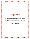 Luận văn: Áp dụng mô hình MVC của Công ty cổ phần công nghệ thanh toán Việt Nam (Vinapay)
