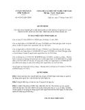 Quyết định số 64/2012/QĐ-UBND