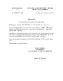 Thông báo số 45/2012/TB-LPQTCỘNG HÒA XÃ HỘI CHỦ NGHĨA VIỆT NAM Độc