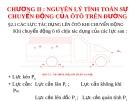 Chương 2: Nguyên lý tính toán sự chuyển động của ô tô trên đường