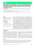 báo cáo khoa hoc : Identification of interleukin-1 receptor-associated kinase 1 as a critical component that induces post-transcriptional activation of IjB-f