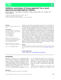 báo cáo khoa hoc : Inhibition mechanism of human galectin-7 by a novel galactose-benzylphosphate inhibitor