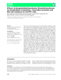 báo cáo khoa hoc : Effects of phosphatidylethanolamine N-methyltransferase on phospholipid composition, microvillus formation and bile salt resistance in LLC-PK1 cells