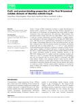 báo cáo khoa hoc : Cu(I)- and proton-binding properties of the first N-terminal soluble domain of Bacillus subtilis CopA