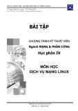 Bài thực hành: Dịch vụ mạng Linux