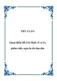 TIỂU LUẬN:  Quan điểm Hồ Chí Minh về vị trí, phẩm chất, nguyên tắc đạo đức