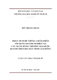 Luận văn: PHÂN TÍCH HỆ THỐNG CHẤM ĐIỂM TÍN DỤNG DOANH NGHIỆP TẠI CÁC NGÂN HÀNG THƯƠNG MẠI QUỐC DOANH TRÊN ĐỊA BÀN TỈNH LÂM ĐỒNG