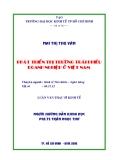 Luận văn: Phát triển thị trường trái phiếu doanh nghiệp ở Việt Nam